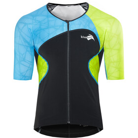KiWAMi Spider Maillot à manches longues, black/blue/lime